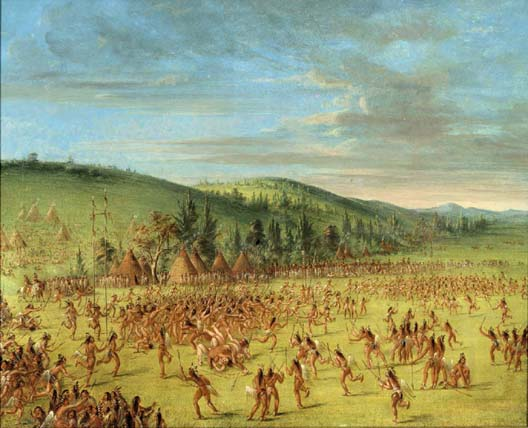 Choctaw Ball play by George Catlin